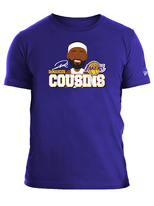Los Angeles Lakers DeMarcus Cousins Caricature T-Shirt
