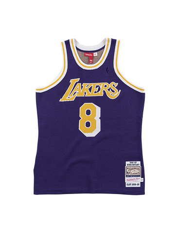 Los Angeles Lakers Aape by A Bathing Ape X Mitchell & Ness Practice Jersey - Gold/Purple