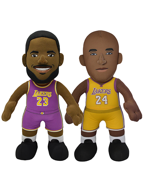 "Los Angeles Lakers Bundle: LeBron James and Kobe Bryant 10"" Plush Figures"