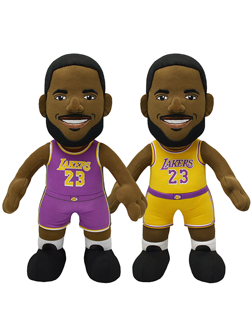 "Los Angeles Lakers Bundle: Lebron James Statement and Icon Editions Uniform 10"" Plush Figures"