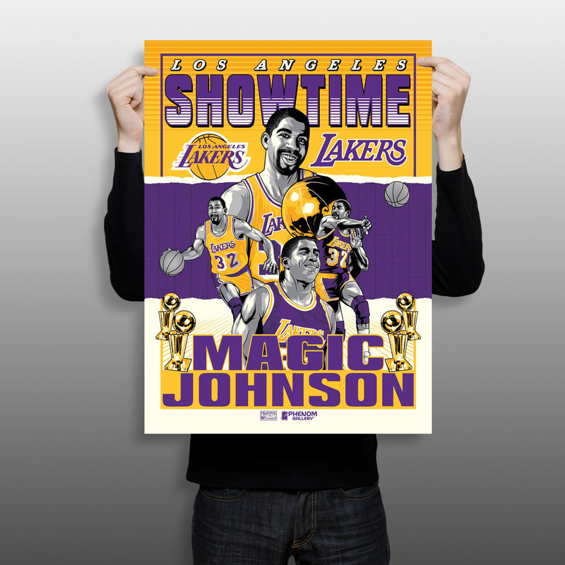 """Showtime"" Magic Johnson Los Angeles Lakers Serigraph Print"