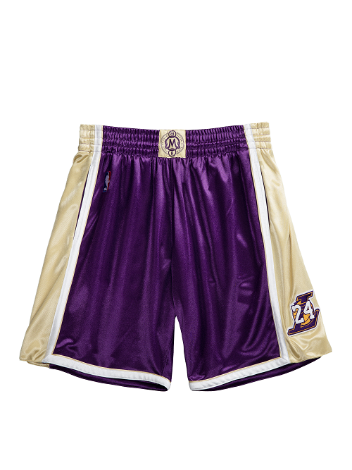 Los Angeles Lakers Kobe Bryant Hall of Fame 1996-97 #24 Authentic Shorts - Purple
