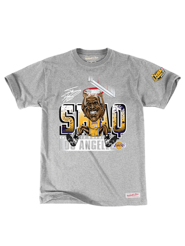 Los Angeles Lakers Shaquille O'Neal Caricature Dunk T-Shirt