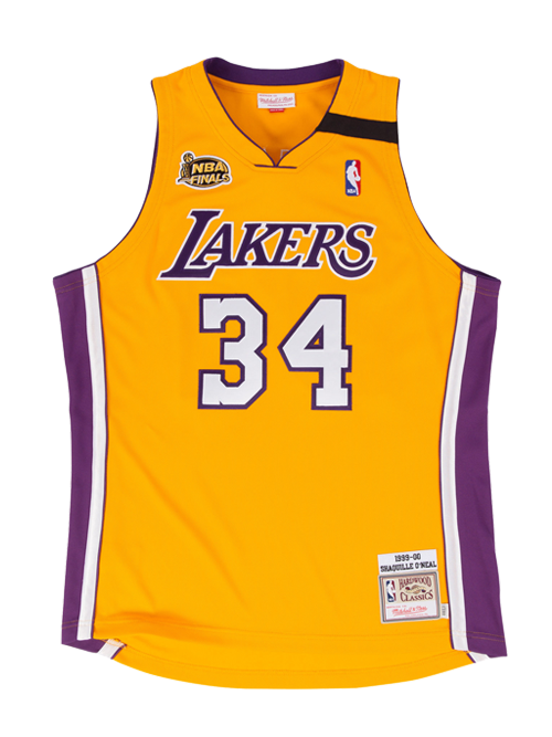 Los Angeles Lakers Authentic Hardwood Classic Shaquille O'Neal Home Jersey