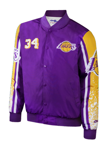 Los Angeles Lakers Shaquille O'Neal Woven Jacket