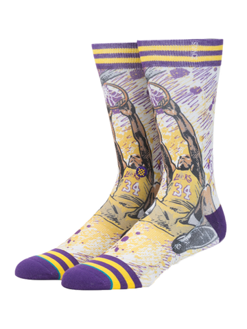Los Angeles Lakers Shaquille O'Neal Socks