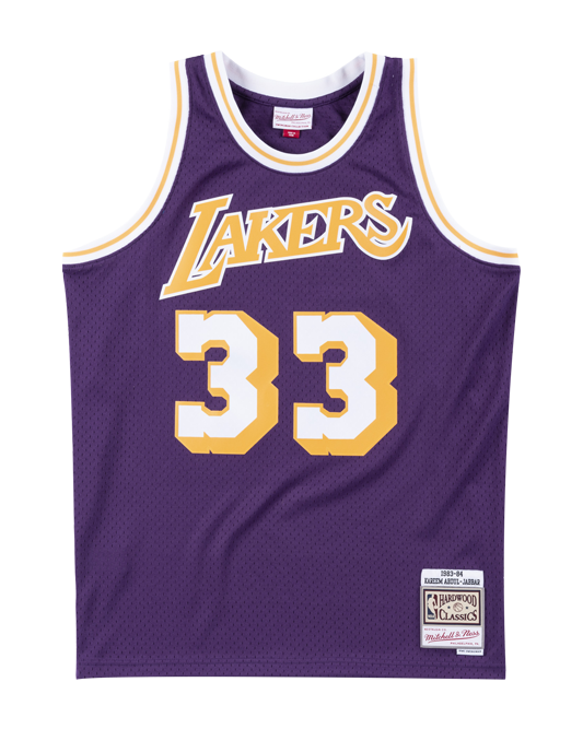 691f935b3a4 Los Angeles Lakers Kareem Abdul-Jabbar 83-84 Road Swingman Jersey