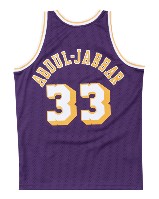 2e05e881ddc Los Angeles Lakers Kareem Abdul-Jabbar 83-84 Road Swingman Jersey