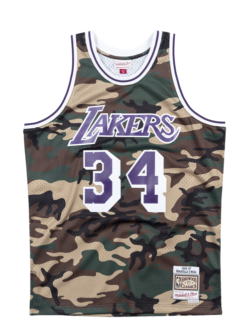 392f4261 Los Angeles Lakers Shaquille O'Neal Woodland Camo Swingman Jersey ...