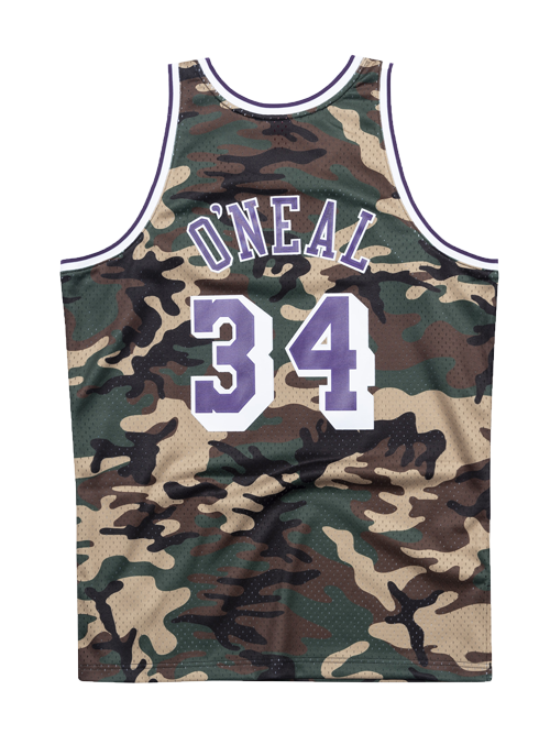 Los Angeles Lakers Shaquille O'Neal Woodland Camo Swingman Jersey