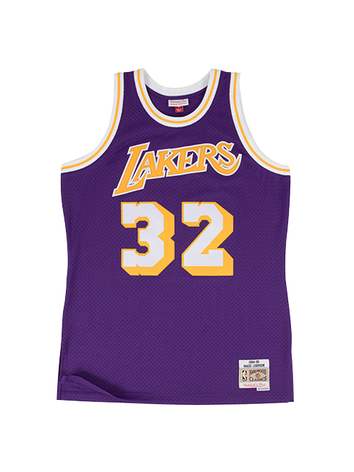 0503058221e Los Angeles Lakers Johnson 84 Swingman Jersey - Purple