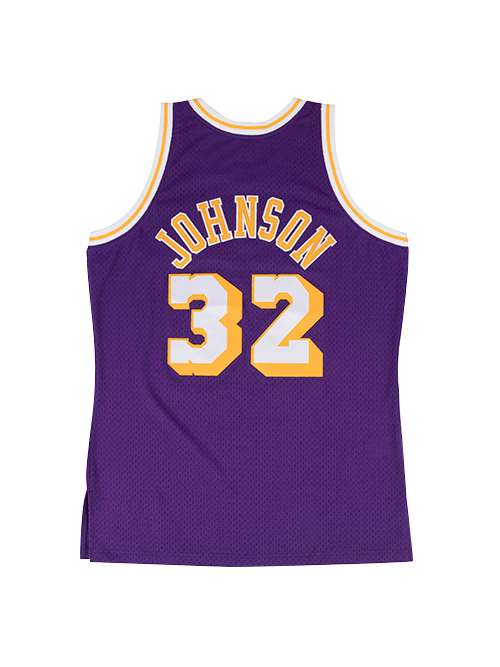 Los Angeles Lakers Johnson 84 Swingman Jersey - Purple f1af8a775