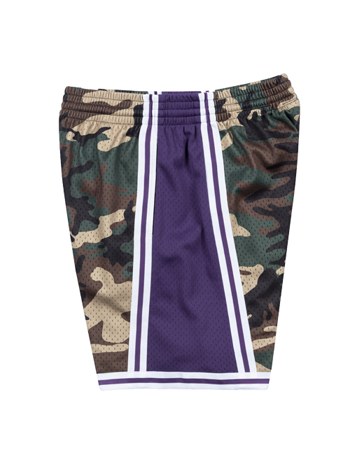 Los Angeles Lakers Woodland Camo Swingman Shorts