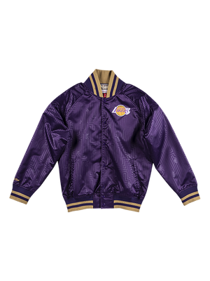 Los Angeles Lakers Chinese New Year Button Snap Satin Jacket