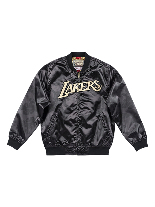 Los Angeles Lakers Gold Toile Satin Jacket