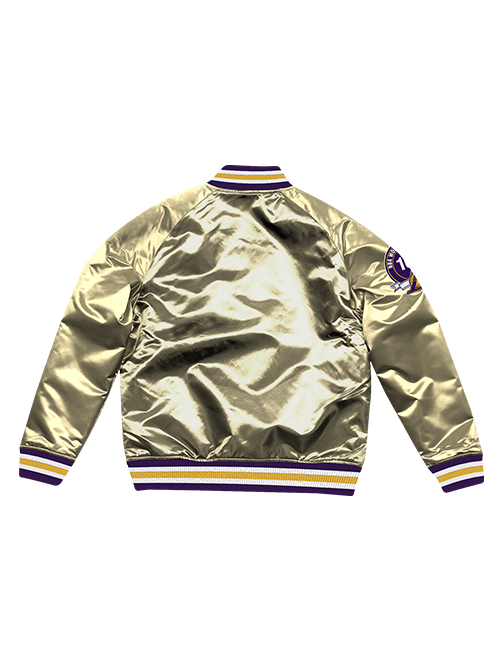Los Angeles Lakers Gold Championship Game Satin Jacket - Gold