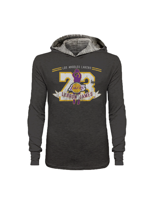 best website ad99e f3b52 Los Angeles Lakers LeBron James Jumper Player Hoodie ...