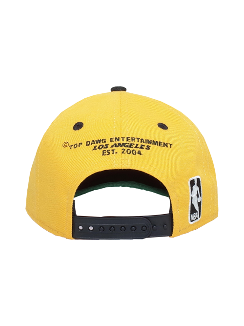 34210c95642332 Los Angeles Lakers TDE 9FIFTY Low Profile Snapback - Gold/Black ...