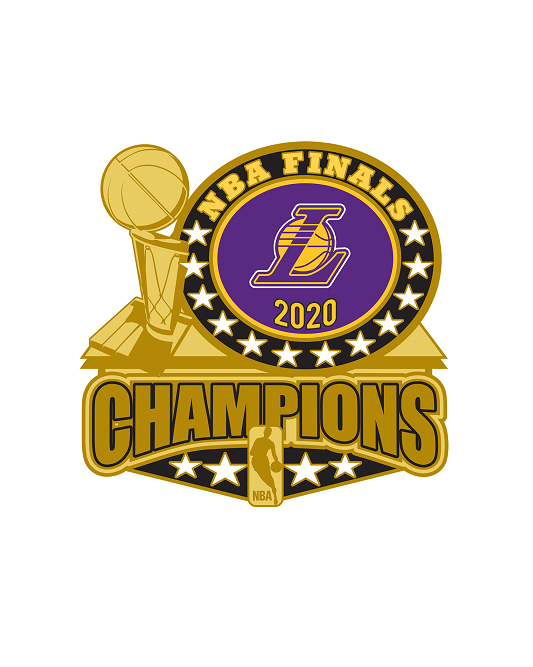 2020 NBA Champions Los Angeles Lakers  Trophy Pin