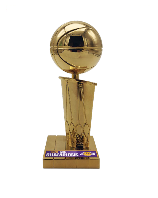 "Los Angeles Lakers 2020 NBA Champions 4"" Replica Larry O'Brien Trophy"