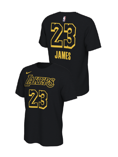 Los Angeles Lakers LeBron James City Edition Player T-Shirt