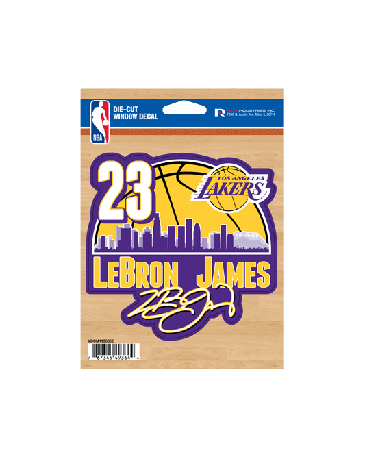 Los Angeles Lakers LeBron James 4x6 Decal