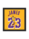 Los Angeles Lakers LeBron James 11x17 Sign