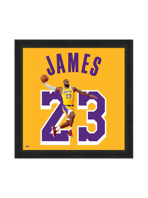 Los Angeles Lakers LeBron James Number 23 Frame