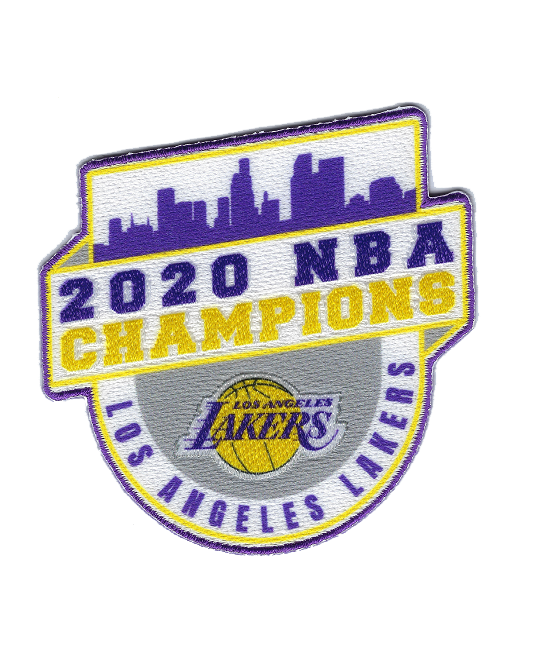 2020 NBA Champions Run the Table Los Angeles Lakers Patch