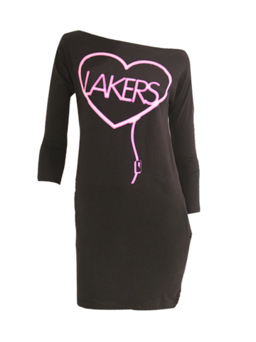 Los Angeles Lakers Women's Drop Tail Hem V-Neck