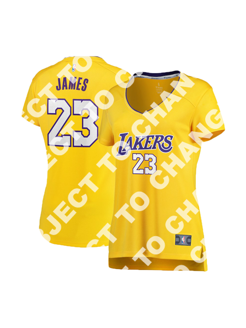 big sale a01b0 f0409 Los Angeles Lakers Women's LeBron James Replica Jersey - Gold
