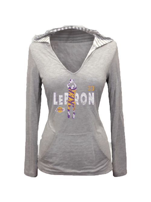 Los Angeles Lakers LeBron James Women's Jumper Hoodie Tee
