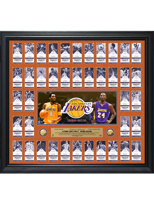 Los Angeles Lakers Limited Edition Kobe Bryant Final Season Framed ...