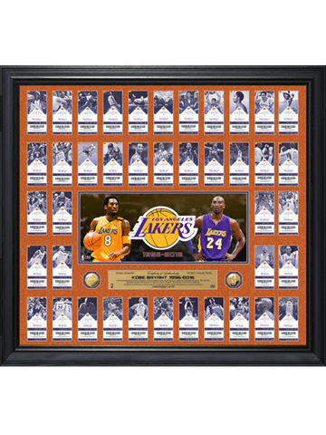 Los Angeles Lakers Shaquille O'Neal Career Tegata Framed