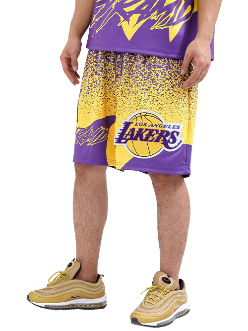 Los Angeles Lakers Black Pyramid Logo Shorts