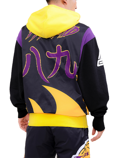 Los Angeles Lakers Black Pyramid Chenille Logo Hoody