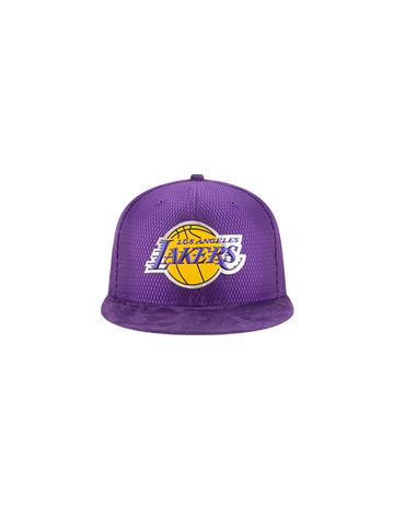 Los Angeles Lakers 2017 Youth Draft 950 On Court Mesh Suede Snapback - Purple