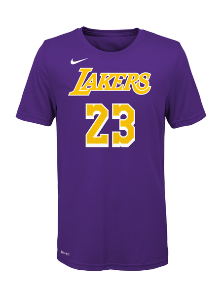 size 40 1b4ae efe42 Los Angeles Lakers Youth LeBron James Statemnet Edition Player T-Shirt