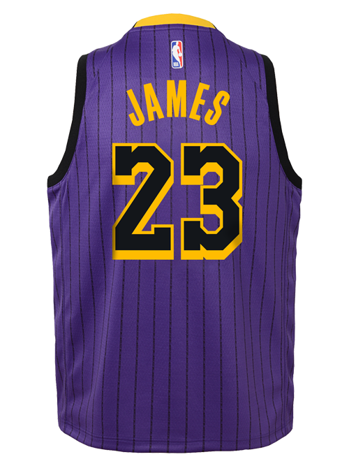 d16a869a3ab Los Angeles Lakers City Edition Youth LeBron James Swingman Jersey · Quick  View