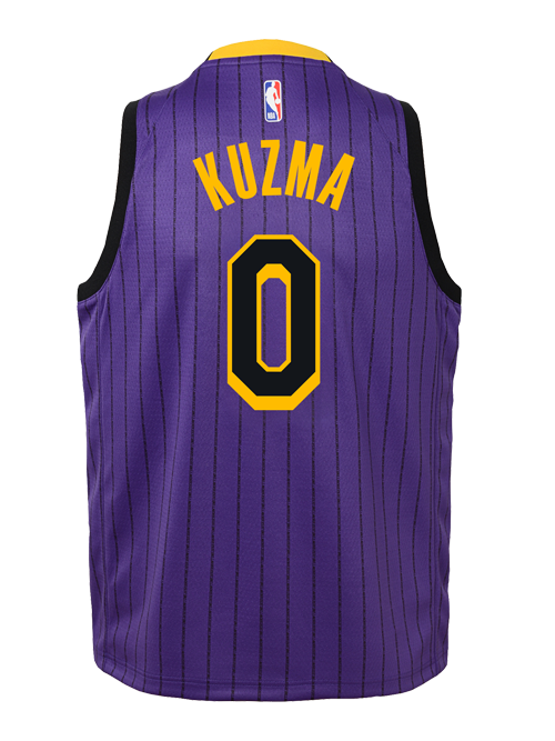 bf83f1eb6e3 Los Angeles Lakers City Edition Youth Kyle Kuzma Swingman Jersey
