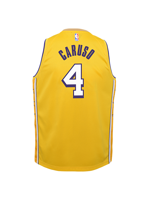 PRE-ORDER Los Angeles Lakers Youth Alex Caruso City Edition Swingman Jersey - Gold