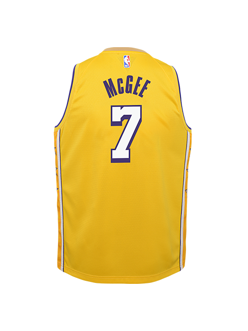 PRE-ORDER Los Angeles Lakers Youth JaVale McGee City Edition Swingman Jersey - Gold