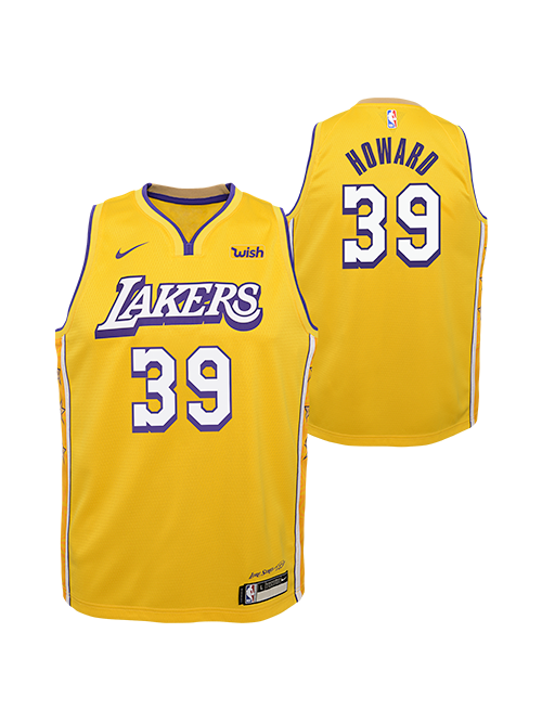 Los Angeles Lakers Youth Dwight Howard City Edition Swingman Jersey - Gold