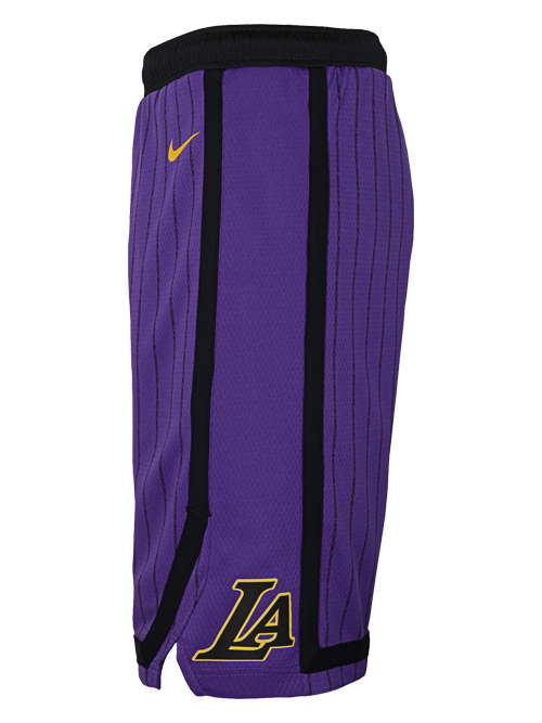 Los Angeles Lakers City Edition Youth Swingman Shorts