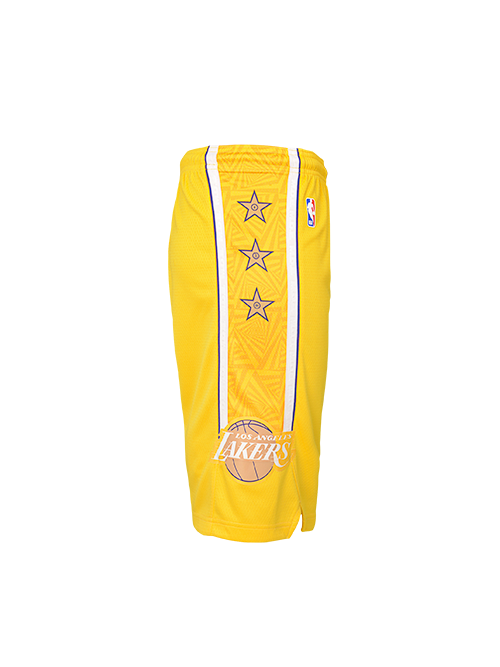 Los Angeles Lakers Youth City Edition Swingman Short - Gold