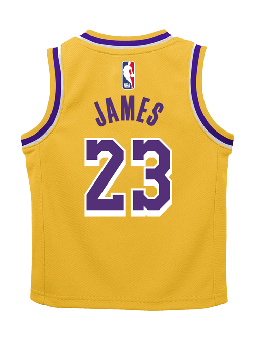Los Angeles Lakers Toddler LeBron James Icon Replica Jersey – Lakers ... 998cfae886c0