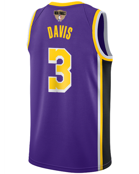 Los Angeles Lakers NBA Finals Patch Anthony Davis 2019-20 Statement Swingman Jersey