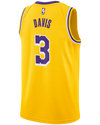 Los Angeles Lakers LeBron James City Edition Swingman Jersey - Gold