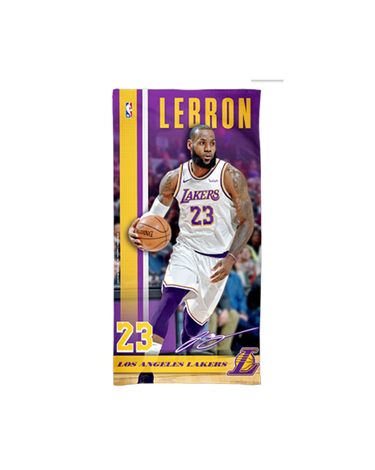 Los Angeles Lakers LeBron James Beach Towel