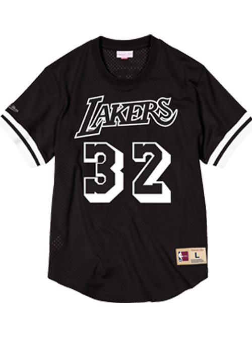 Los Angeles Lakers Magic Johnson Mesh Crew Neck Jersey - Black